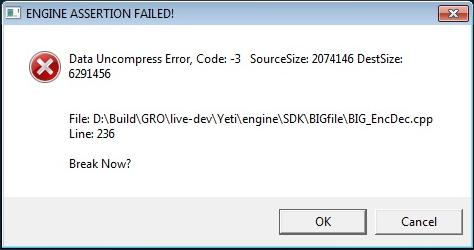 An unhelpful error message